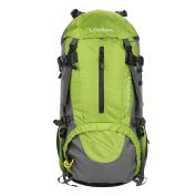 Hiking Backpack Lixada 50L Waterproof Lightweight Trekking Rucksack for Outdoor Sport Travel Cycling Climbing Mountaineer Climbing with Rain Cover