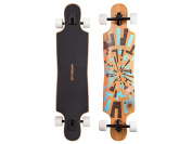 Apollo Longboard Complete board with high-speed ABEC bearings incl. skate t-tool, drop through freeride skate cruiser boards [Special Edition]