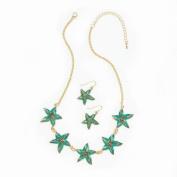 Home Locomotion Green Starfish Jewellery Set