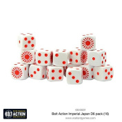 Warlord Games, Imperial Japanese D6 Bolt Action (16) Dice