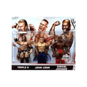 Mattel WWE Wrestling Exclusive Action Figure 3Pack Triple H, John Cena Ezekiel Jackson by Mattel