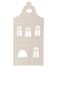 Hutschenreuther Little Christmas Town House Front 2 x Height 22.5 cm, White, 8 x 11 x 24 cm