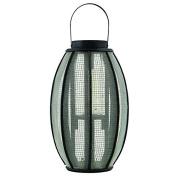 Garden Lantern for Pillar Candle or Tea Light Shade Black Outdoor or Indoor