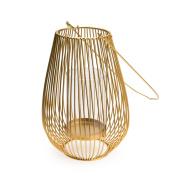 Black Velvet Studio Lantern Goldy Golden colour Nordic style Metal 26x17x17 cm