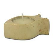 "Soapstone tealight holder ""Fish Shape"""