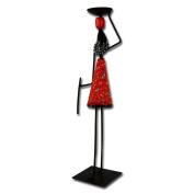 "Metal candle holder ""African Woman"", orange"