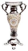 Burkina Home Decor Candelabra High Galaxy, Ceramic, Multicolor, 12 x 9 x 33 cm