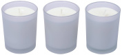 Ritzenhoff Aroma Naturals Modern Glass Candle Set of 3, Lavender, 5 x 5 x 6 cm 3 Units