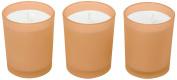 Ritzenhoff Aroma Naturals Modern Glass Candle Set of 3, Orange, 5 x 5 x 6 cm 3 Units