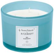 Ritzenhoff Aroma Naturals Modern Glass Scented Candle, Blue, 11 x 11 x 8 cm