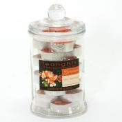 Jar of 24 Geranium Scented Tealights