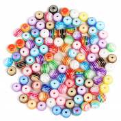 Naler 300pcs Multi-Coloured Acrylic Round Beads Charms for Bracelet Necklace Earrings DIY Jewellery Making -- 8mm