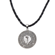 YNuth Viking Rune Norse Raven Amulet Pendant Retro Style Necklace for Men