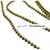 Pax 10 m Bronze A Beads Ball Chain 2.4 mm s1110830, DIY
