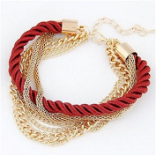Wicemoon Hollow Multilayer Woven Chain Bracelet Female Trinket Decorated Hand Ornaments Chain Female Hand Jewellery Simple Bracelet Accessories