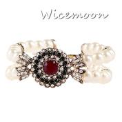 Wicemoon Retro Luxury Pearl Bracelet Female Trinket Decorated Hand Ornaments Chain Female Hand Jewellery Simple Bracelet Accessories