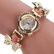 yipinco7285 Girls Fashion Quartz Wrist Watch Hollow Heart Butterfly Braid Band