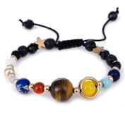 OLIOU Fashion Planet star Beads Braided Bracelet for Girl