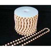 Diamante Chain – Pale Pink and dorée- 6 30 cm