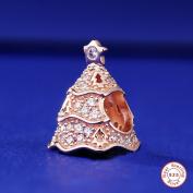 MOCCI European Rose Twinkling Christmas Tree Beads DIY Fits for Original Pandora Bracelets 925 Silver Charm Fashion Jewellery