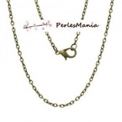 Pax 12 Necklaces Necklaces 77 cm 3 Chain by 2 mm Bronze s1153081