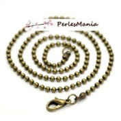 Pax 12 Supports a Beads 2.4 mm Ball Chain Necklace Bronze s1117236