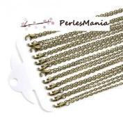 Pax 12 Mesh forcat necklaces necklaces 76.2 cm Ball Chain 4.5 mm Bronze s1126386