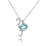 ALCYONEUS Fashion Glowing Flamingo Pendant Necklace Jewellery Halloween Party Women Gift