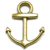 Zhichengbosi Silver Gold Colour Anchor Pendants for Crafting and Jewellery-making