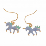 display08 Cute Cartoon Unicorn Shape Hook Dangle Ear Drop Earrings Party Jewellery