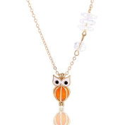 Zhichengbosi Crystal Necklace Owl Tone Essential Oil Chain Clavicle Chain