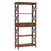 Wayborn 4 Shelf Bookcase in Brown
