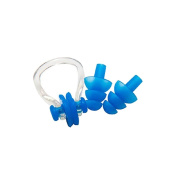 Silicone Earplugs Nose Clip Set for Swimming Soft 1 Set
