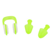 DealMux Water Diving Sports Nose Clip Earplugs Swimming Protector Set Light Green Clear