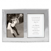 mariposa beaded double picture frame, 13cm by 18cm