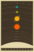 The Solar System Poster (24x36) in a Black Poster Frame
