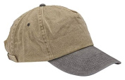 Rocks-Lane Clothing EC11 New 5 Panel Washed Cotton Baseball Cap Black Tan