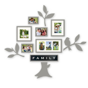 Frame Photo Wall Modern Style Photo Frame Wall Picture Creative Love Shape 6 Photo Frame Wall Combination Stereo Visual Effects