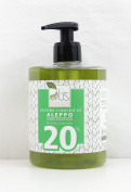 ALUS – Natural Aleppo Liquid soap made with Extra Virgin Olive Oil and 20% Laurel Oil - Suitable for shaving, cleaning, washing - Biodegradable - Non-allergenic and delicate - 500ml