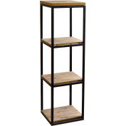 Devon & Claire Lynnwood Industrial 3 Tier Small Bookcase