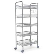 Zimtown 5 Tier Mesh Shelving Rack Shelf Kitchen Pantry Storage Rolling Utility Cart