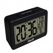 Sharplace Large LCD Display Nap Alarm Clock Digital Sensitive Backlight Indoor Thermometer