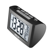 Sharplace Large LCD Display Nap Alarm Clock Digital White Backlight Indoor Thermometer