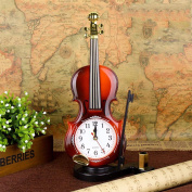 Wmshpeds Fashion retro violin alarm clocks watches students quarter gifts student supplies stationery supply