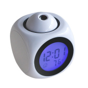 Kicode Time Temp Display Voice LCD Projection USB Alarm Clock Fashion Convenient Multifunction