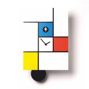 Diamantini & Domeniconi Wall Clock Mondrian White/Multicoloured