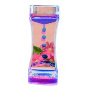 Nibesser Liquid Motion Bubbler Oil Sandglass for Sensory Play Toy Children Activity Desk Top Decortaion
