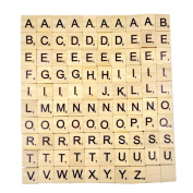 Generic Wooden Freestanding Mdf Letters of Scrabble Alphabet A to Z – Black
