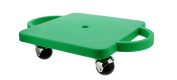 Get Out! Plastic Scooter Board, Wide Handles, 30cm x 30cm Inches - Gym Class Manual Scooter Board for Kids
