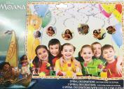 Disney Moana Hanging Swirl Decorations Birthday Party Decoration Supplies 6ct